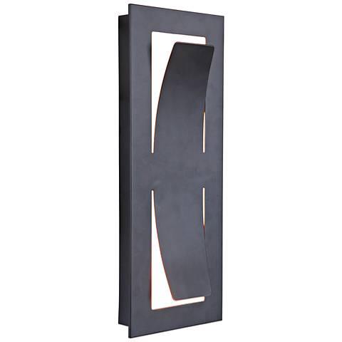"Enzo 13 1/2"" High Midnight LED Pocket Outdoor Wall Light"