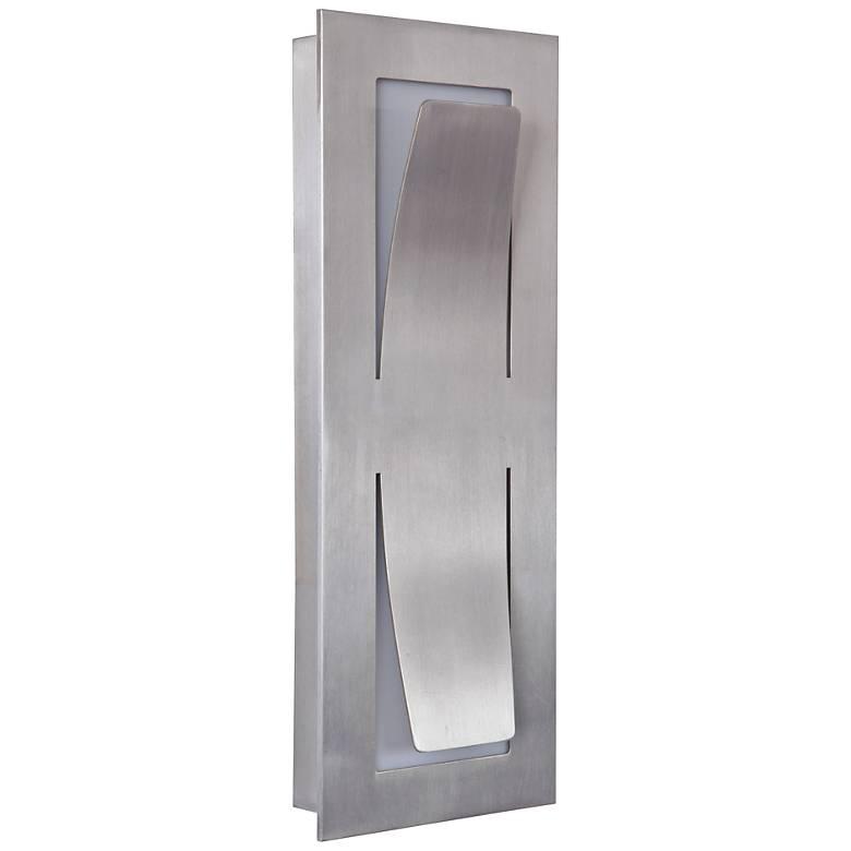 "Enzo 13"" High Satin Aluminum LED Pocket Outdoor Wall Light"