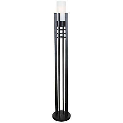 "Van Teal 68"" High Black Matte Finish Night Tower Floor Lamp"