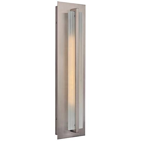 """Allure 22""""H Stainless Steel LED Pocket Outdoor Wall Light"""
