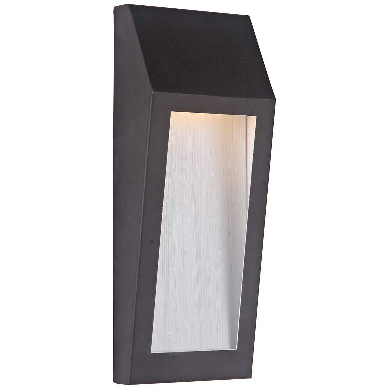 """Wedge 11"""" High Oiled Bronze LED Pocket Outdoor Wall Light"""