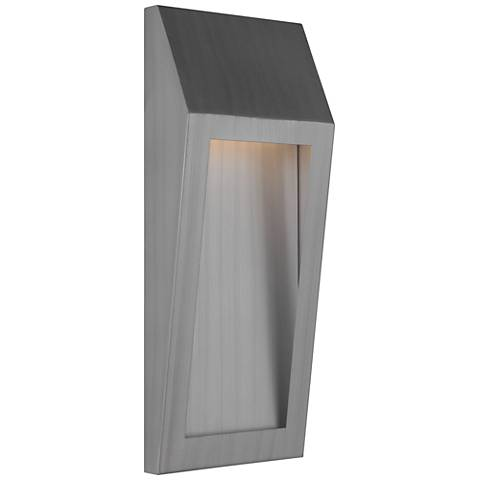 "Wedge 17 3/4""H Oiled Bronze LED Pocket Outdoor Wall Light"