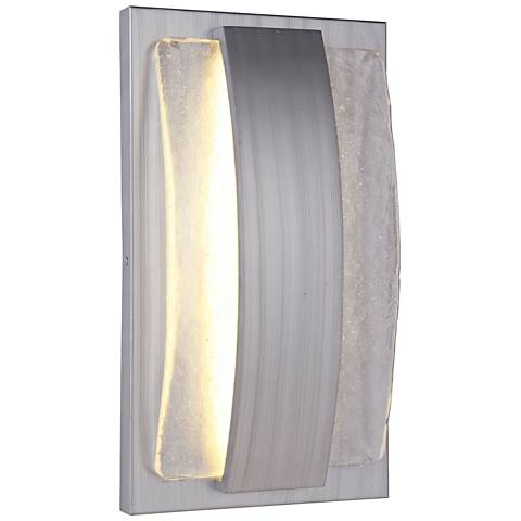 "Lynk 17 1/4""H Brushed Aluminum LED Pocket Outdoor Wall Light"