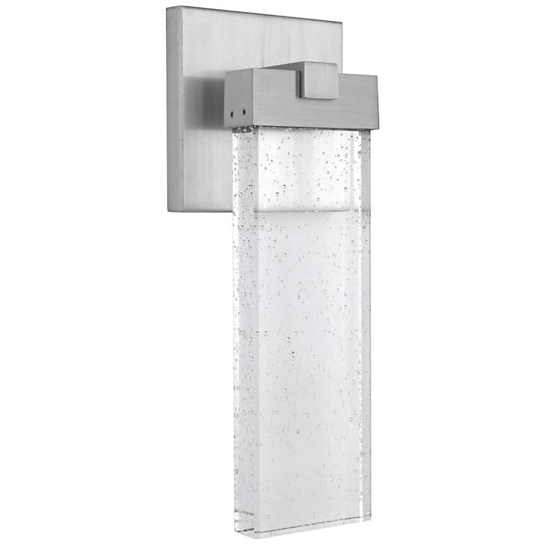 "Aria 15"" High Satin Aluminum LED Pocket Outdoor Wall Light"