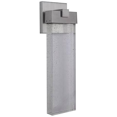 "Aria 19 1/2"" High Matte Black LED Pocket Outdoor Wall Light"
