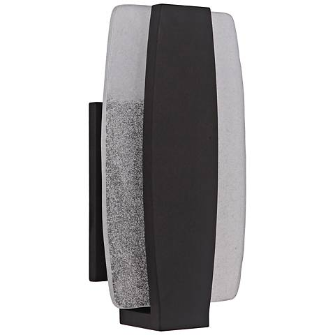 "Craftmade Duo 14""H Midnight LED Pocket Outdoor Wall Light"