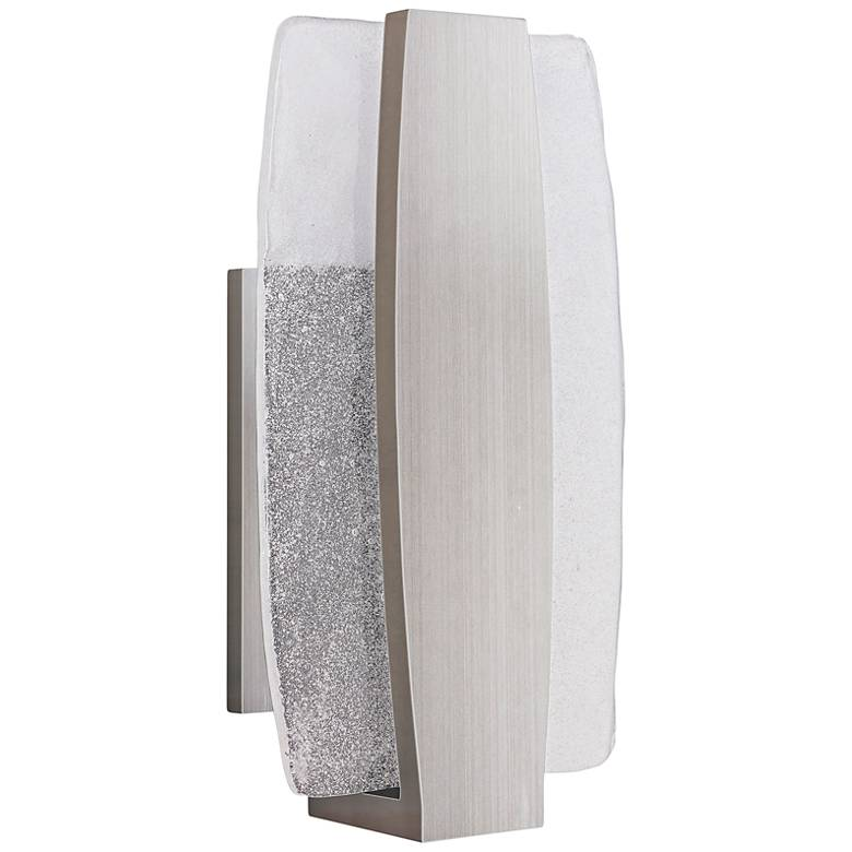 """Duo 14"""" High Stainless Steel LED Pocket Outdoor Wall Light"""