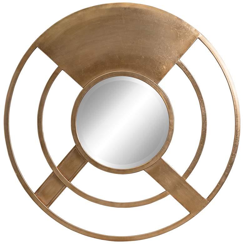 "Cooper Classics Abbey Gold 36"" Round Wall Mirror"