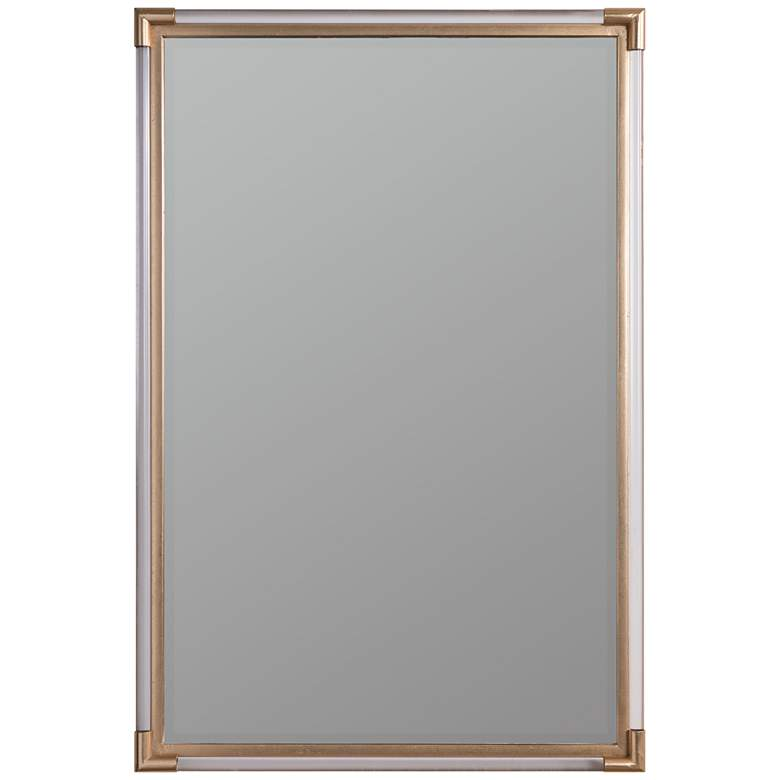 "Keesey Acrylic and Gold 24"" x 36"" Wall Mirror"