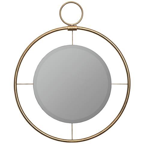 "Cooper Classics Jenkins Bronze 28"" Round Wall Mirror"