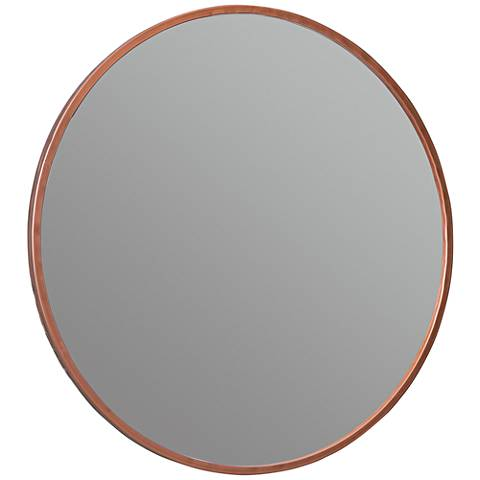 "Cooper Classics Wilson Rose Gold 28"" Round Wall Mirror"