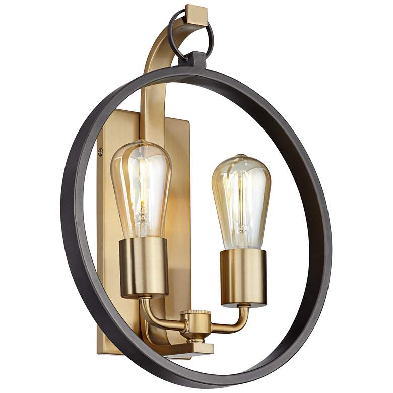 "34X57 - 14.5""H Brushed Champagne Wall Sconce"