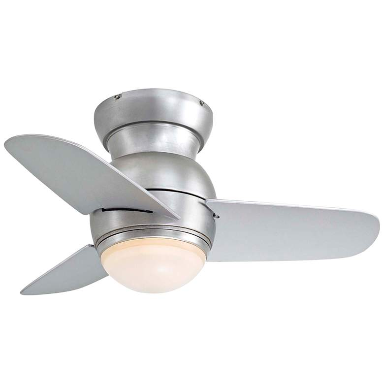 "26"" Minka Spacesaver Brushed Steel Hugger LED Ceiling Fan"