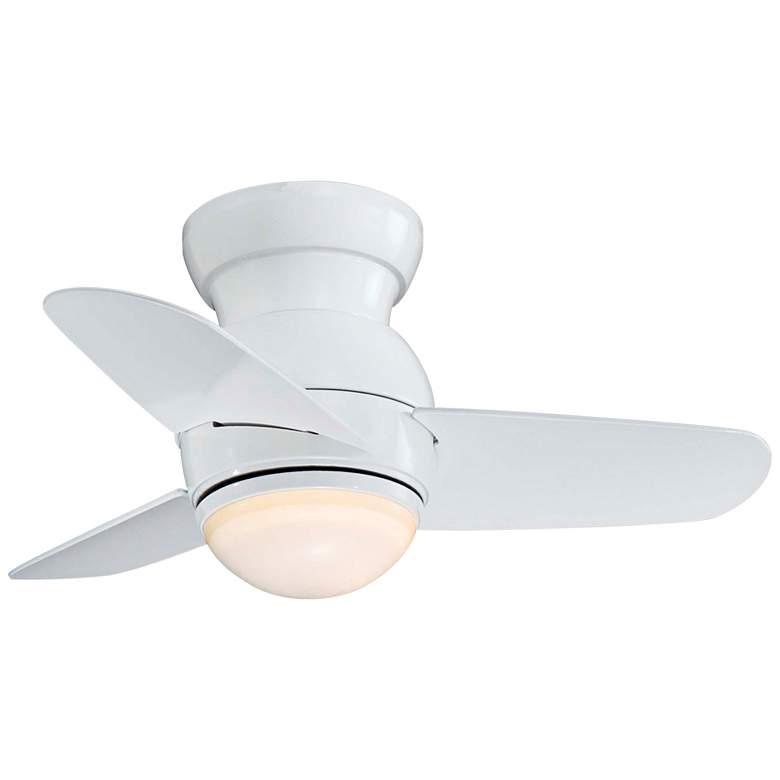 """26"""" Minka Aire Spacesaver White Hugger LED Ceiling Fan"""