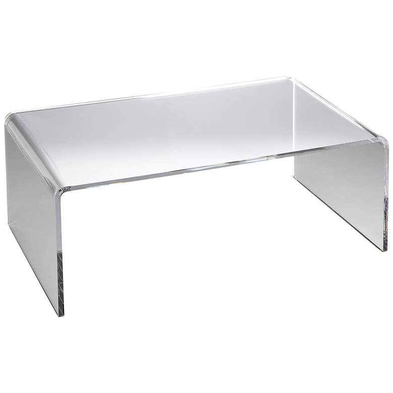 "Crystal Clear 38"" Wide Acrylic Modern Coffee Table"