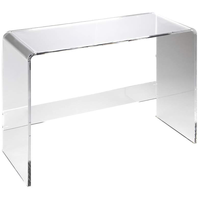 Fine Crystal Clear 38 Wide Acrylic 1 Shelf Modern Console Table Spiritservingveterans Wood Chair Design Ideas Spiritservingveteransorg