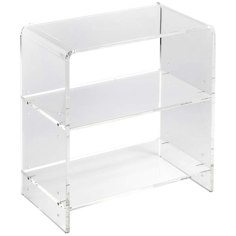 "Crystal 22"" Wide Clear Acrylic 2-Shelf Bookcase"
