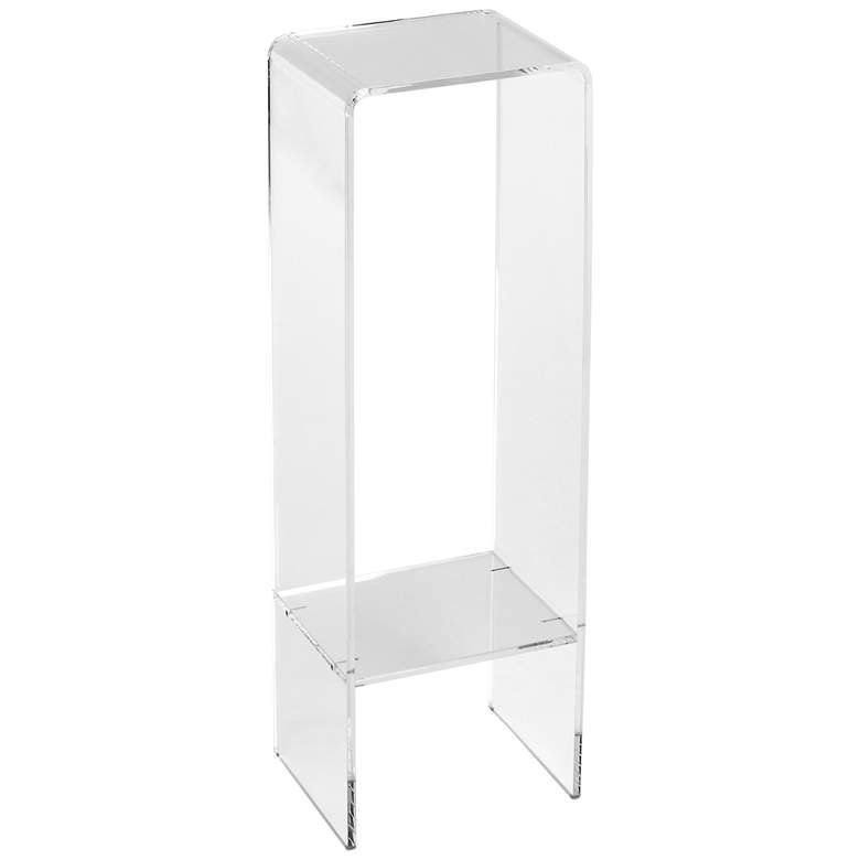 """Crystal Clear 35"""" High Modern Acrylic Display or Plant Stand"""