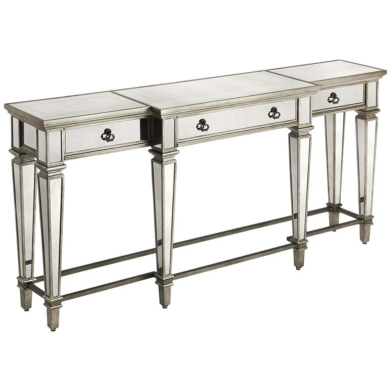 Butler Celeste Mirrored 3-Drawer Console Table