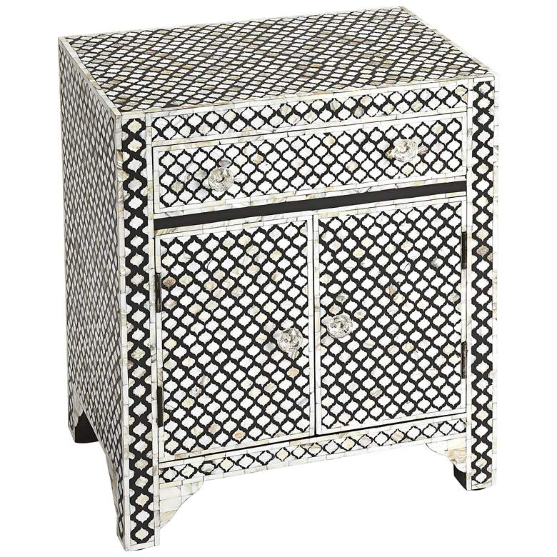 """Vernais 24 1/4"""" Wide Mother of Pearl Accent Cabinet"""