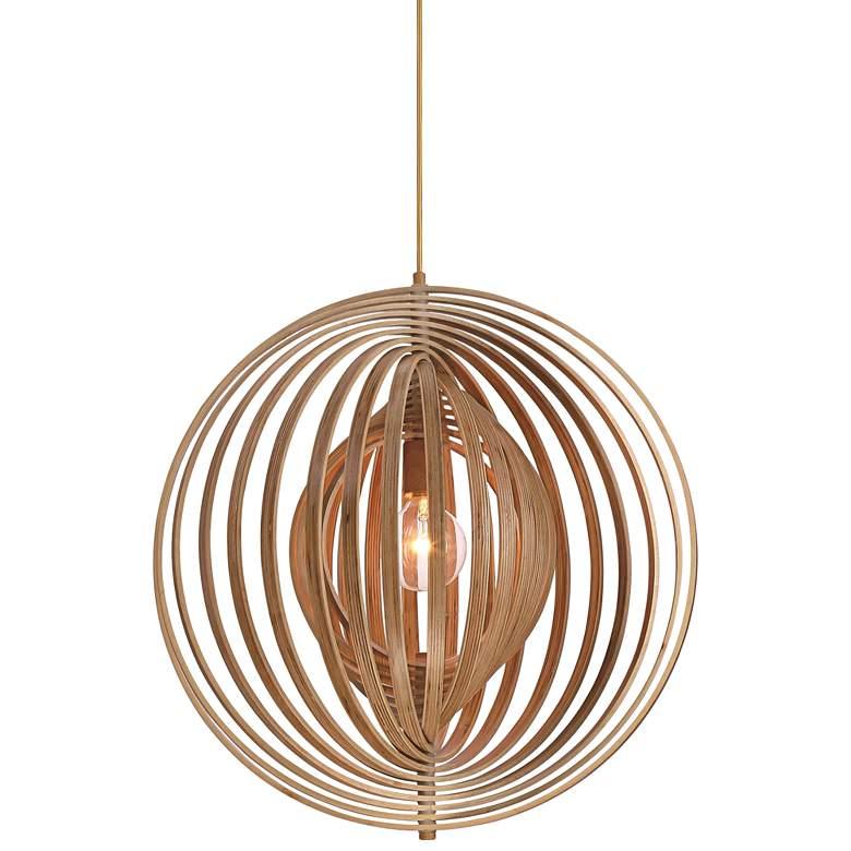"Eurofase Abruzzo 23 1/4"" Wide Wood Pendant Light"