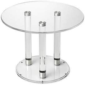 Butler Landis Clear Acrylic Round Bunching Coffee Table