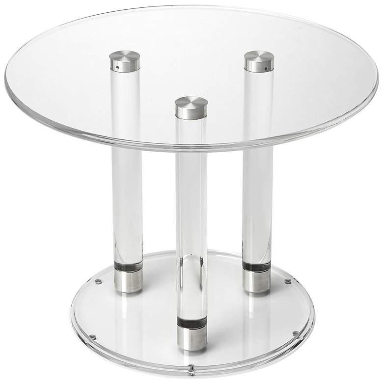 """Landis 24"""" Wide Clear Acrylic Round Modern Coffee Table"""
