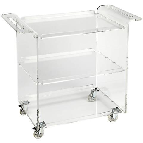 Butler Crystal Clear Acrylic 3-Shelf Trolley Server