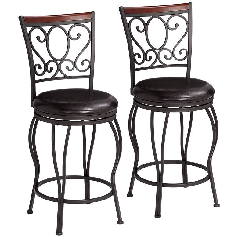 "Alberta 24"" High Swivel Counter Stools Set of 2"