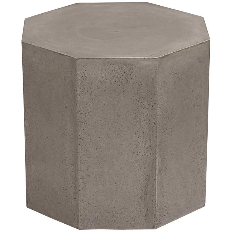 """Ollo 18"""" High Gray Concrete End Table"""