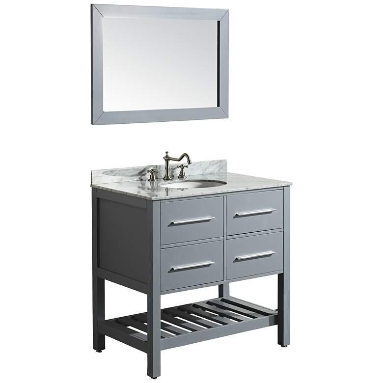 Vanity Set.Bosconi 36 Gray 2 Drawer Single Sink Vanity Set