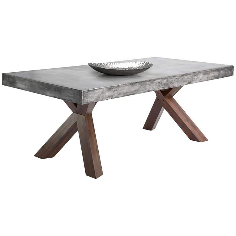 "Warwick 78 3/4"" Wide Gray Concrete Rectangular Dining Table"