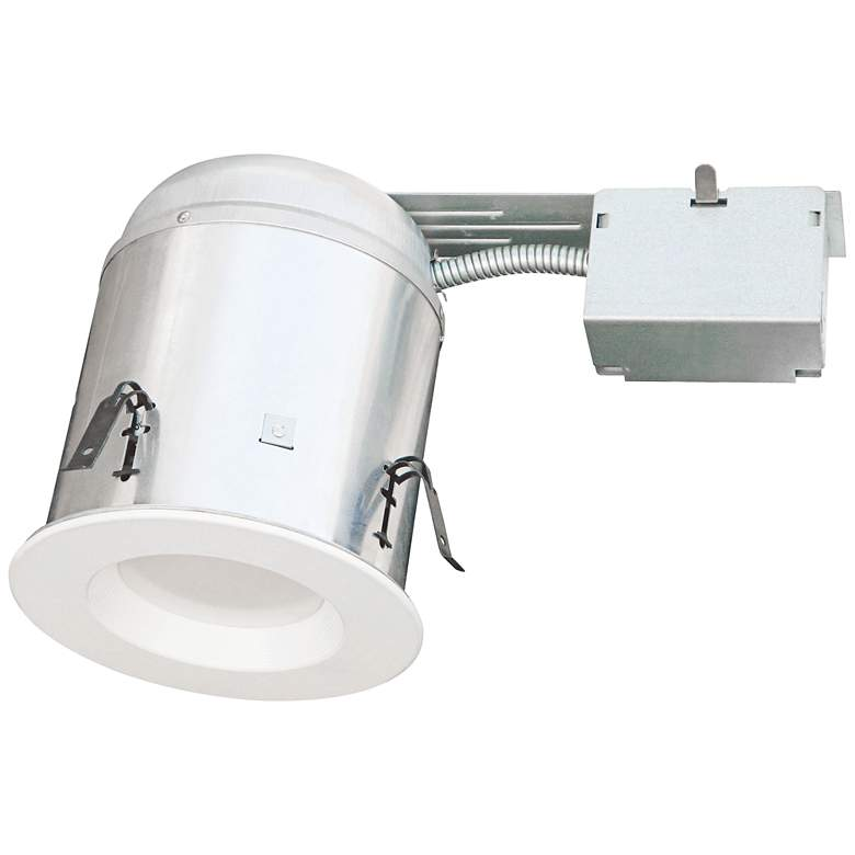 "4"" White Baffle Trim 10W LED Complete Remodel Housing Kit"