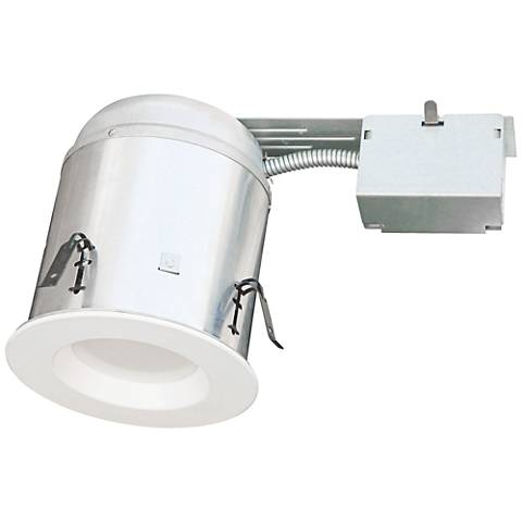"4"" White Baffle Trim 10W LED Complete Remodel Housing Kit"