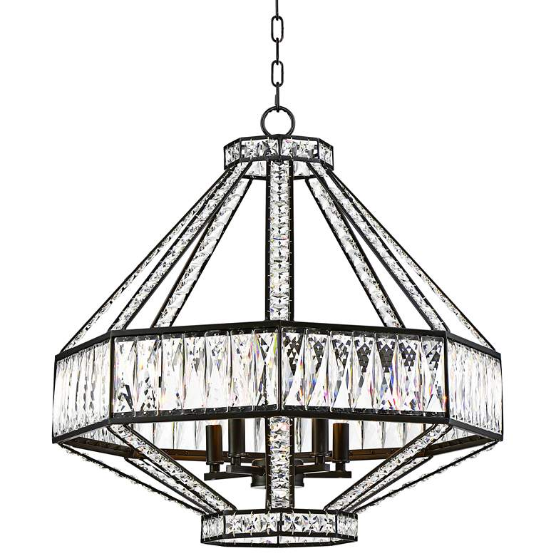 "Eurofase Bellezza 23 3/4""W Bronze 5-Light Crystal Pendant"