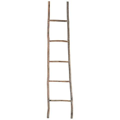Branch One Large White Washed Wood Ladder
