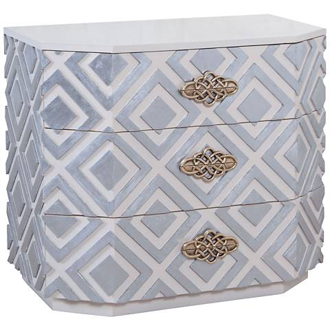 Nemeth Small Cappuccino Foam and Silver Leaf 3-Drawer Chest