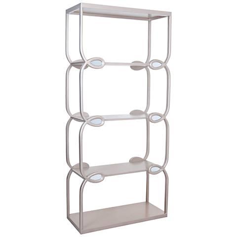 Annalea Warm Pewter 4 Shelf Loops Bookshelf