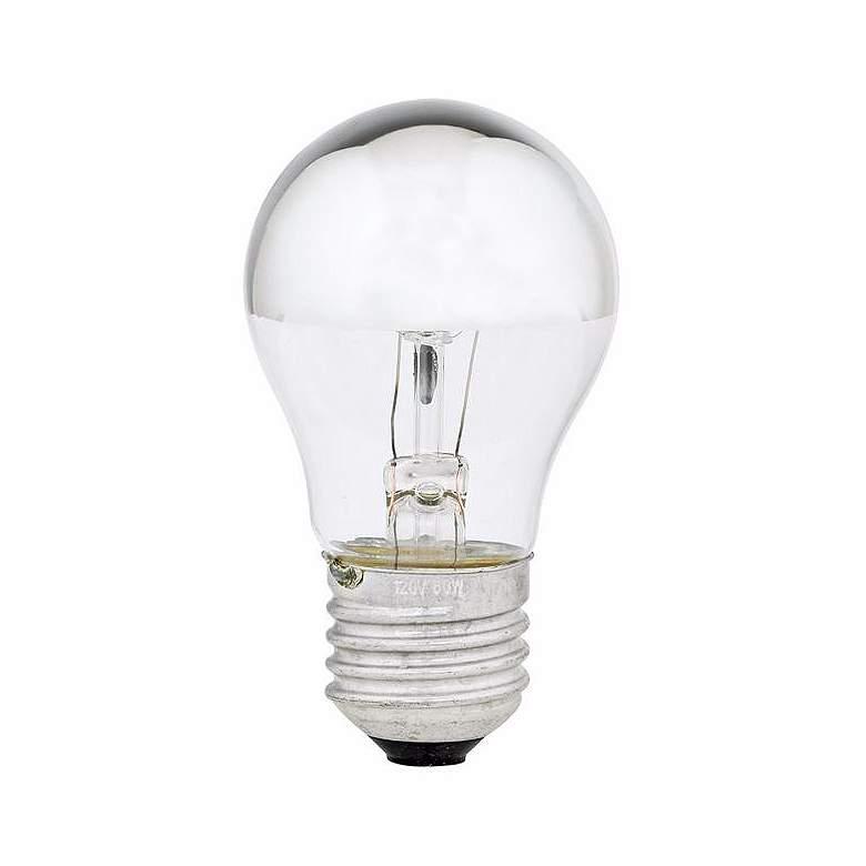 60 Watt Half Chrome Mirrored A15 Light Bulb 35075