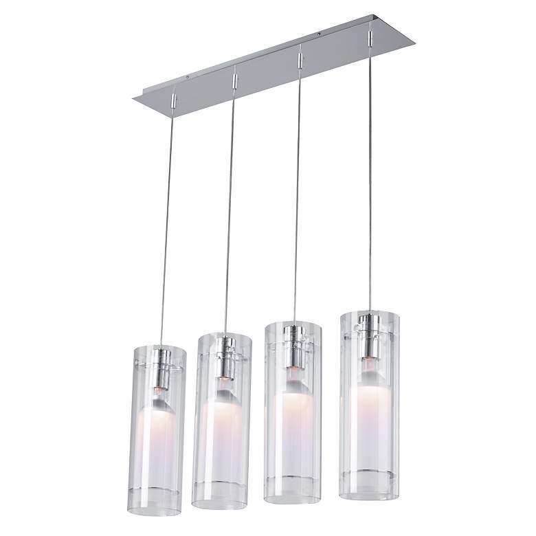 ET2 Clear Cylindrical Multi-Pendant Light Fixture
