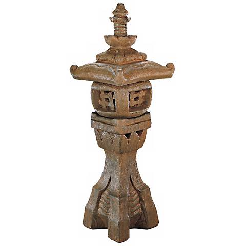 "Japanese Lantern 43"" High Garden Accent"