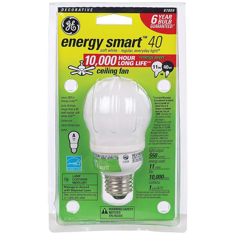 premium selection 0b3f7 a20a9 11 Watt CFL Ceiling Fan ENERGY STAR® Light Bulb