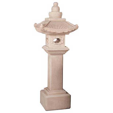 """Great Tall Pagoda Lantern 79"""" High Garden Accent"""