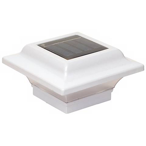 Imperial White Solar Powered LED Outdoor Post Cap