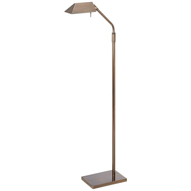 Possini Euro Antique Brass Halogen Pharmacy Floor Lamp