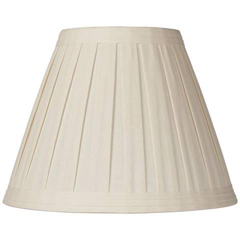 Creme Linen Box Pleat Lamp Shade 7x14x11 (Spider)