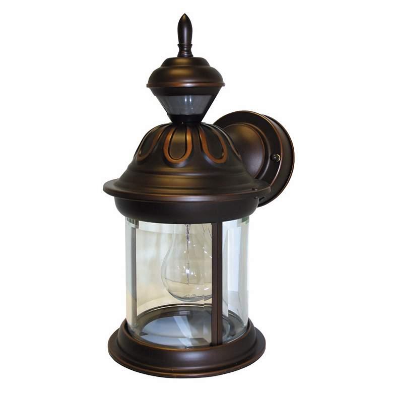 """Motion Sensor 12 3/4"""" High Antique Bronze Outdoor Wall Light"""