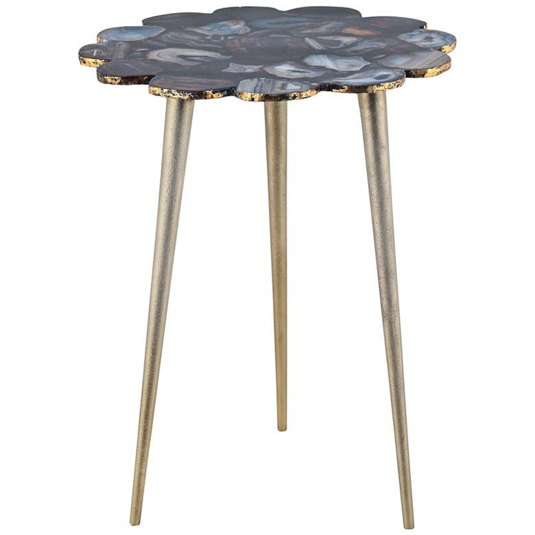 "Knossos 16"" Wide Agate Stone Modern Side Table"