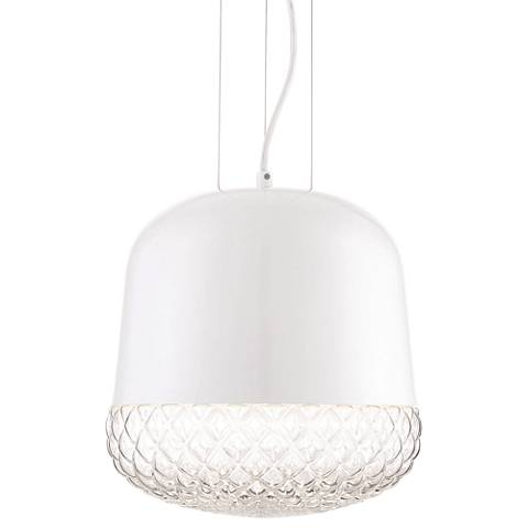 "Eurofase Corson 10"" Wide White Mini Pendant"
