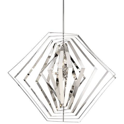 "Eurofase Downtown 45"" Wide Polished Chrome 10-Light Pendant"